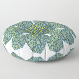Cubed Mazes Floor Pillow