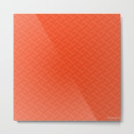 Orange Pattern - Spring 2017 Trend Metal Print