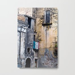 Medieval Sicilian Facade of Forza d'Agro Metal Print