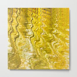 Golden Reflection on Surface Of Lake #decor #society6 #buyart Metal Print