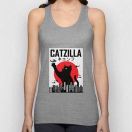 CATZILLA Cat Kitty Japan Vintage Gift Unisex Tank Top