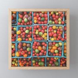 Farmer's Market Tomatoes Framed Mini Art Print