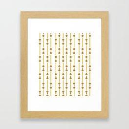 geometric design bown rhombuses Framed Art Print