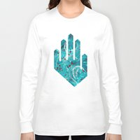 letters Long Sleeve T-shirts featuring Old Letters by Damla Ilicak