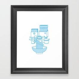 Ramen Set Framed Art Print