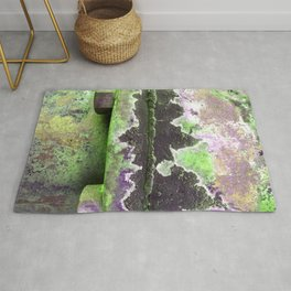 Bolted Down Violet and Lime  Rug