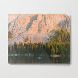 Colorado Alpine Sunset Metal Print