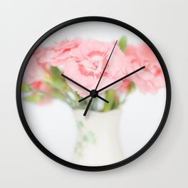 Pink Carnations 2 Wall Clock