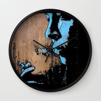 smoke Wall Clocks featuring SMOKE by ARTito