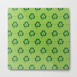 shamrock pattern Metal Print