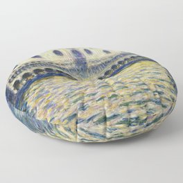 The Palazzo Ducale by Claude Monet Floor Pillow