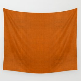 """Orange Burlap Texture (Pattern)"" Wall Tapestry"