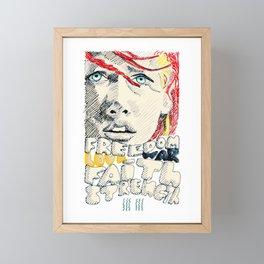 Leeloo Dallas portrait Framed Mini Art Print