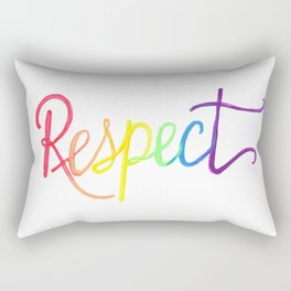 Respect in Watercolor Rainbow Gradient Rectangular Pillow