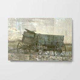 Old Wagon Metal Print