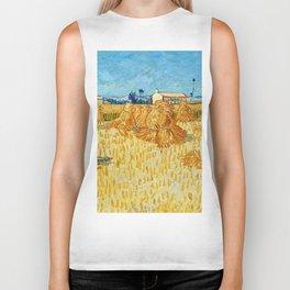 "Vincent Van Gogh ""Corn Harvest in Provence"" Biker Tank"