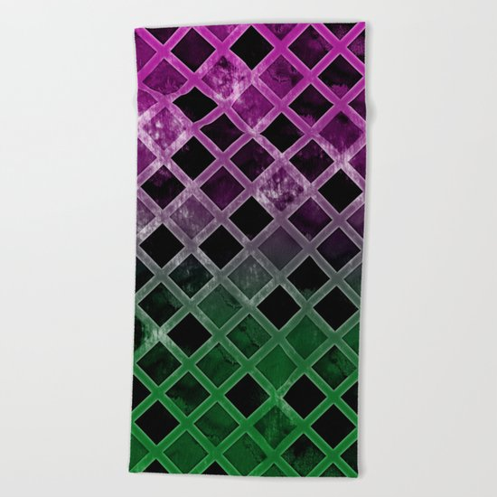 Abstract Geometric Background #7 Beach Towel