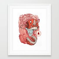 mask Framed Art Prints featuring crazy mask by Iain Macarthur