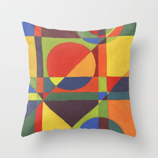 Intdes Throw Pillow by Posh & Painterly Society6
