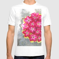 The floweress White Mens Fitted Tee SMALL