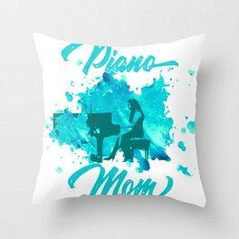 Grand Piano Mom Keyboard Clavier Pianist Gift Throw Pillow