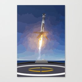 The Booster Has Landed Canvas Print