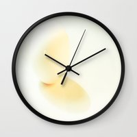 egg Wall Clocks featuring Egg by Dora Birgis