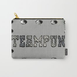 Steampunk Metal Plate Carry-All Pouch