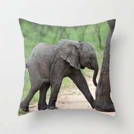 Mom and me - Africa wildlife Throw Pillow