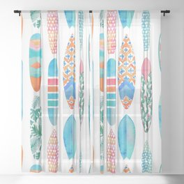 Surfing Sheer Curtain