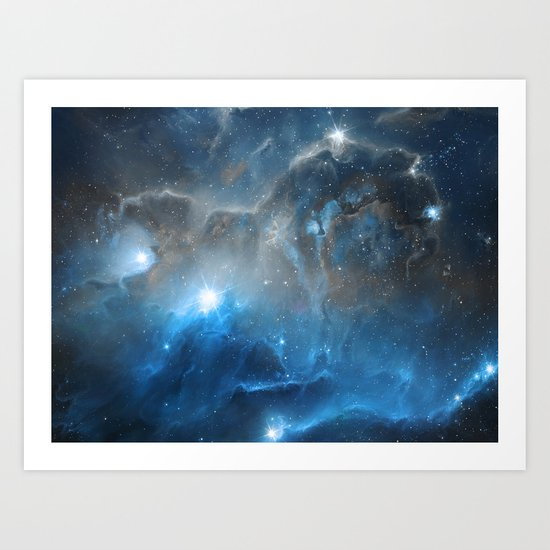 Ice, Dust and a Billion of Stars Art Print