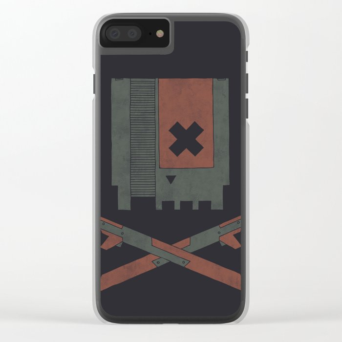 The Nes Skull Clear iPhone Case