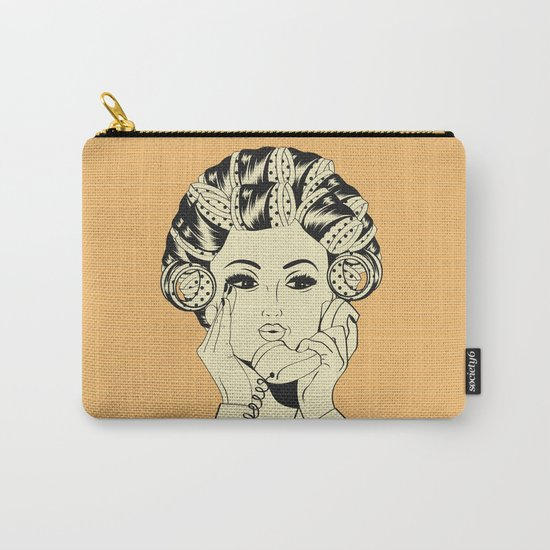 The woman with the curlers Carry-All Pouch