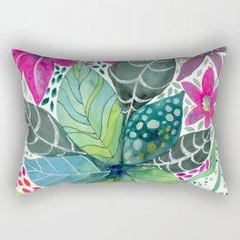 Leafy Tropical Rectangular Pillow