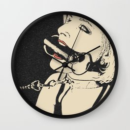 Good girls go to heaven, bad girls go to a walk... gagged and collared Wall Clock