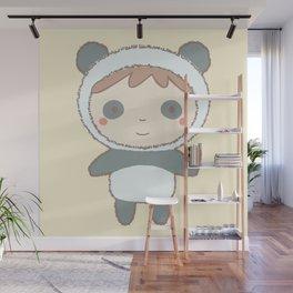 Cute Panda Kid Wall Mural