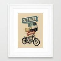 cafe racer Framed Art Prints featuring cafe racer by Liviu Antonescu