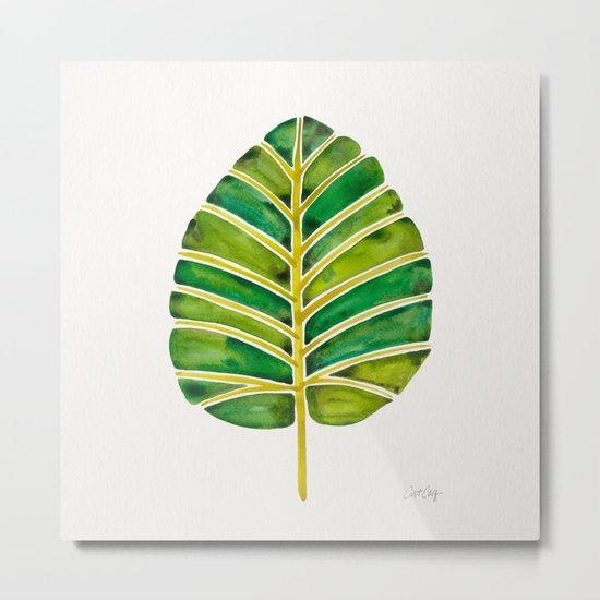 Elephant Ear Alocasia – Green Palette Metal Print