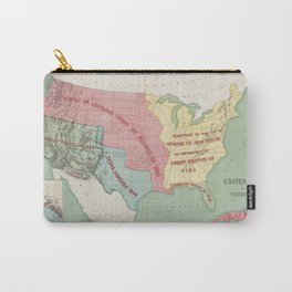 Vintage United States Annexation Map (1898) Carry-All Pouch