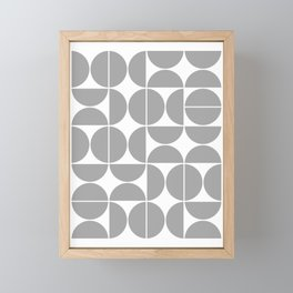 Mid Century Modern Geometric 04 Grey Framed Mini Art Print