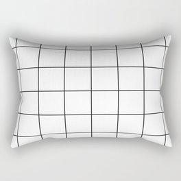 Minimal Grids Never Fail - Black on White Rectangular Pillow