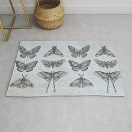 Moths & Butterflies II Rug