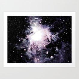 Pastel Pink Lavender Orion Nebula Art Print