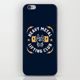 Heavy Metal Lifting Club (Yellow) iPhone Skin