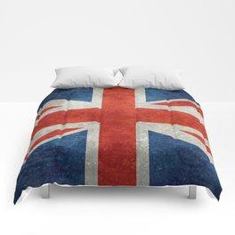 "UK British Union Jack flag ""Bright"" retro Comforters"
