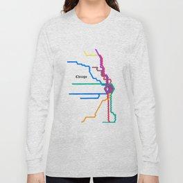 Chicago Subway Long Sleeve T-shirt