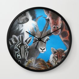 Jungle Animals Wall Clock