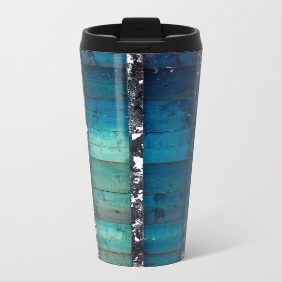 cold wooden palette Metal Travel Mug