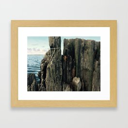 Kitty Hawk Bay Crabbing Wall Framed Art Print