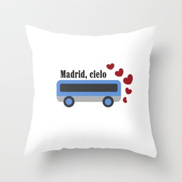 madrid , cielo Throw Pillow